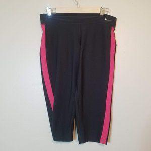 Nike Dri-Fit Sz XL Black & Hot Pink Workout Crop